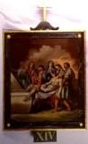 Agazio V. sec. XIX, Dipinto di Gesù deposto nel sepolcro