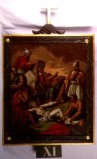 Agazio V. sec. XIX, Dipinto di Gesù inchiodato sulla croce