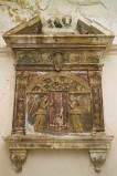 Bottega abruzzese sec. XVI, Tabernacolo in pietra scolpita e dipinta