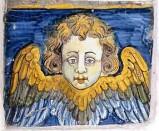 Ambito castellano sec. XVII, Formella con angelo 1/4
