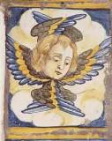 Ambito castellano sec. XVII, Formella con angelo 4/4