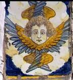 Ambito castellano sec. XVII, Formella con angelo 3/4
