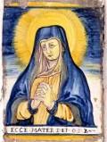 Ambito castellano sec. XVII, Formella con Madonna