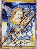 Ambito castellano sec. XVII, Formella con Angelo con scala e tenaglia