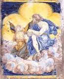 Ambito castellano sec. XVII, Formella con San Matteo e angelo