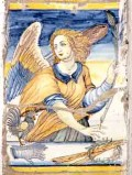 Ambito castellano sec. XVII, Formella con Angelo con gallo e corona di spine