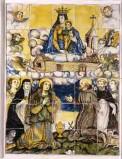 Grue Francesco (1647), Maiolica dipinta con Madonna di Loreto e Santi
