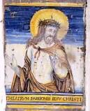 Ambito castellano sec. XVII, Formella con Gesù Cristo