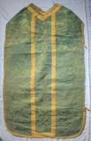Manifattura calabrese secc. XIX-XX, Pianeta verde con galloni dorati