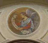 "Conti Consoli S. (1932-1936), Angelo con scritta ""DEUS AMOR MEUS"""