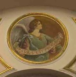 """Conti Consoli S. (1932-1936), Angelo con scritta """"PASSUS EST PRO NOBIS"""""""