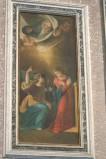 Ambito napoletano sec. XIX, Maria riceve l'annuncio dell'Angelo in olio su tela