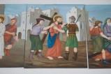 Adamo C. (1992), Gesù Cristo caricato della croce in olio su tavola