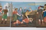 Adamo C. (1992), Gesù Cristo cade la prima volta in olio su tavola