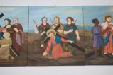 Adamo C. (1992), Gesù Cristo cade la terza volta in olio su tavola