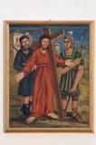 Adamo C. (1964), Gesù Cristo caricato della croce in olio su tavola