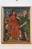 Adamo C. (1964), Gesù Cristo aiutato dal cireneo in olio su tavola
