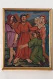 Adamo C. (1964), Gesù Cristo consola le donne di Gerusalemme in olio su tavola