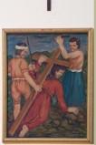 Adamo C. (1964), Gesù Cristo cade la terza volta in olio su tavola