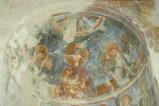 Scuola campano-cassinese sec. XI, Affresco con Madonna Gesù Bambino e angeli