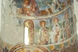 Scuola cassinese sec. XI, Affresco con sei figure di sante
