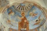 Scuola campano-cassinese sec. XI, Affresco con Colomba Mistica e Cristo in Trono