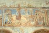 Scuola campana-cassinese sec. XI, Affresco con entrata in Gerusalemme