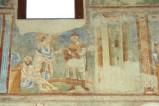 Scuola campana-cassinese sec. XI, Affresco con Gesù Cristo insegna al ricco