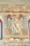 Scuola campana-cassinese sec. XI, Affresco con Angelo musicante 3/4