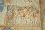 Scuola campana-cassinese sec. XI, Affresco con schiera di Apostoli