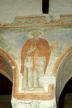 Scuola campano-cassinese sec. XI, Affresco con santo abate 2/8