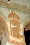 Scuola campano-cassinese sec. XI, Affresco con santo abate 3/8