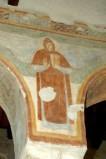 Scuola campano-cassinese sec. XI, Affresco con santo abate 4/8