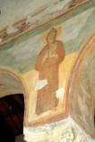 Scuola campano-cassinese sec. XI, Affresco con santo abate 6/8