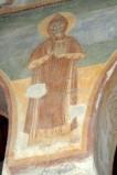 Scuola campano-cassinese sec. XI, Affresco con santo abate 7/8