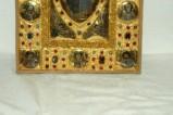 Orefice meridionale sec. XII, Lastrina in oro e pietre preziose 3/4