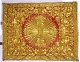 Manif. romana sec. XVIII, Gremiale in samice d'oro su seta rossa