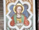 Alberti A. sec. XV, Affresco con S. Agnese