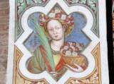Alberti A. sec. XV, Affresco con S. Flora