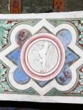 Alberti A. sec. XV, Affresco con leone rampante