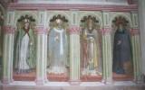 Alberti A. sec. XV, Affresco con finta arcata e i quattro Dottori della Chiesa