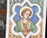 Alberti A. sec. XV, Affresco con S. Lucia