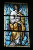 Albertella M. prima metà sec. XX, Vetrata con angelo con ancora