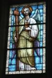 Albertella M. prima metà sec. XX, Vetrata con angelo con croce e calice