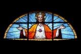 Albertella M. prima metà sec. XX, Vetrata con Sacro Cuore di Gesù