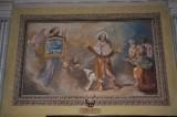 Albertella M. (1954), Dipinto murale con S. Rocco e un angelo