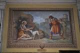 Albertella M. (1954), Dipinto murale con S. Rocco penitente