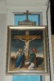 Ambito piacentino metà sec. XIX, Cornice di Via Crucis con croce 12/14