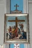 Ambito piacentino metà sec. XIX, Cornice di Via Crucis con croce 13/14