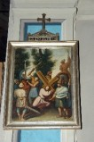 Ambito piacentino metà sec. XIX, Cornice di Via Crucis con croce 3/14